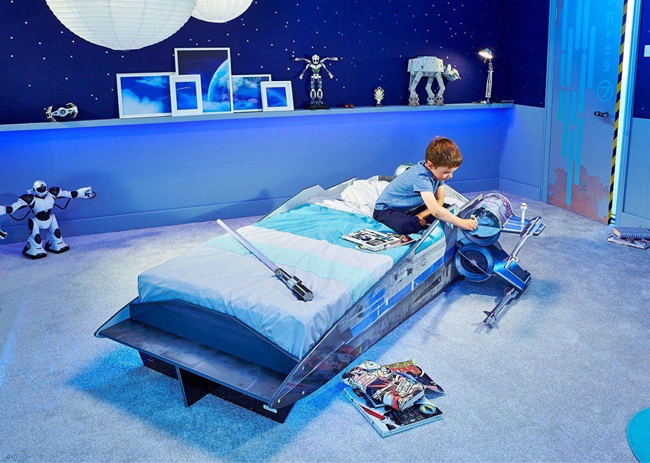 Star Wars Xwing Einzelbett  Kinderbett Im Raumschiff Design  Star von Star Wars Kinderzimmer Einrichtung Bild