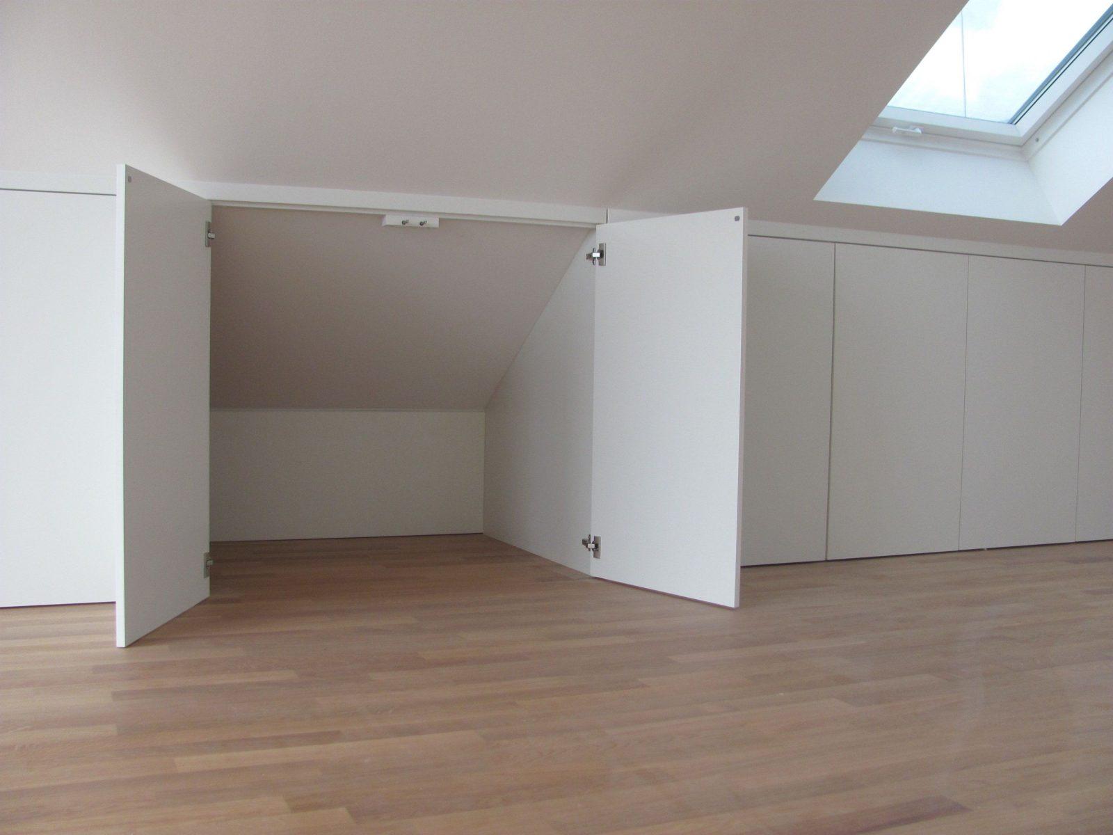 Stauraum Unter Der Dachschräge Schreinerei Bund Pinteres Avec Ikea von Ikea Schrank Für Schräge Bild