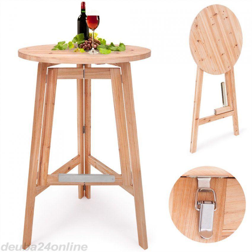 Stehtisch Selber Bauen Mit Party Stehtisch Aus Massivholz Klappbar von Holz Stehtisch Selber Bauen Bild