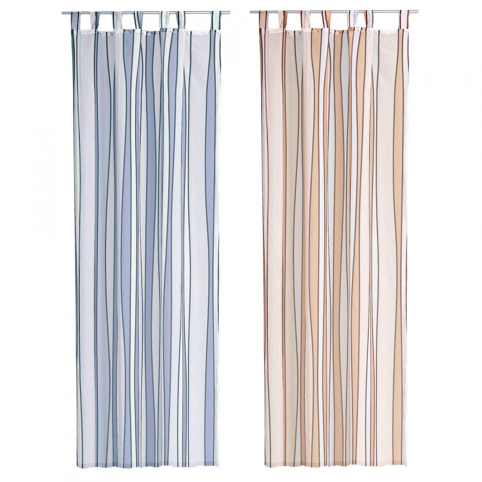 Store Voile Ca 140X245 Cm Transparent Mit Streifen Halbtransparent von Gardinen Blau Weiß Gestreift Bild