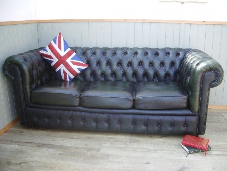Stunning Green Leather Chesterfield Sofa  In Broughton Cheshire von Green Leather Chesterfield Sofa Photo
