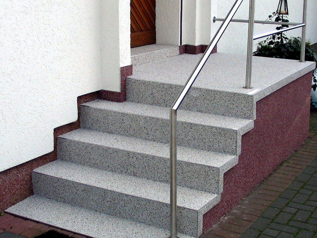 Stunning Treppe Eingangsbereich Außen Contemporary von Außentreppe Sanieren Mit Marmorgranulat Photo