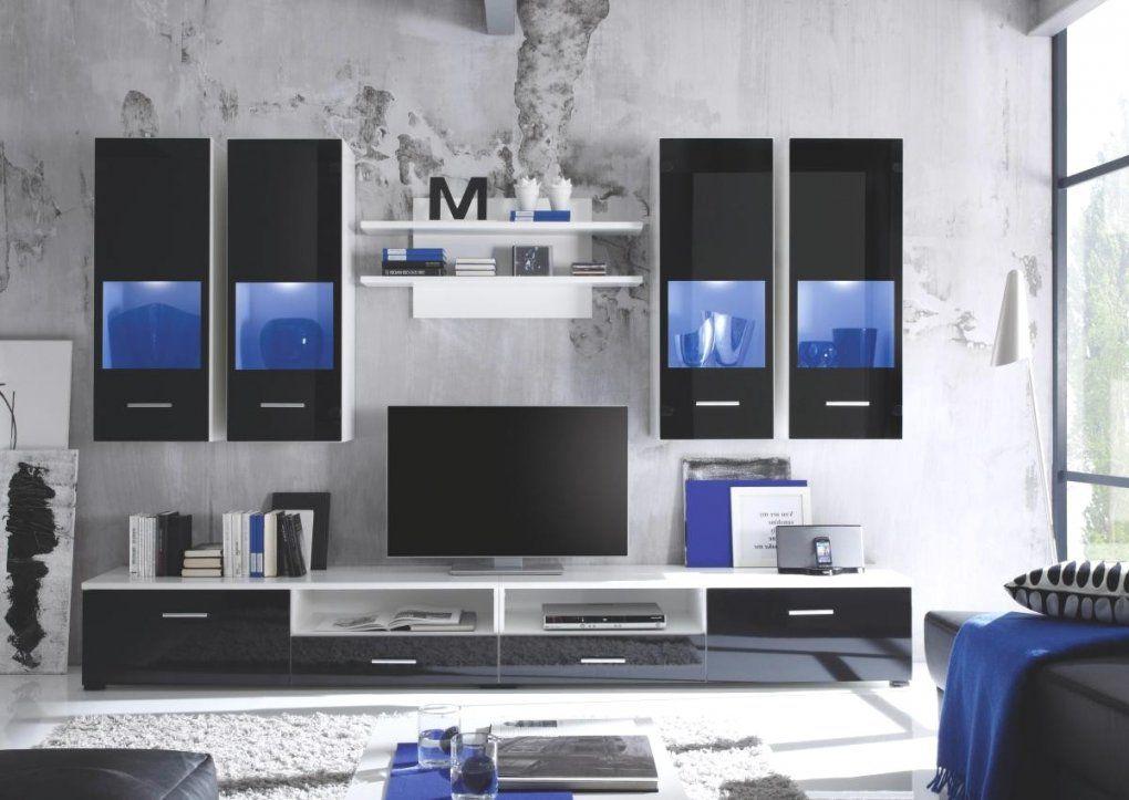 Super Cool Wohnwand Weiß Schwarz Wohnwände Günstige Online Bestellen von Wohnwand Weiß Schwarz Hochglanz Bild
