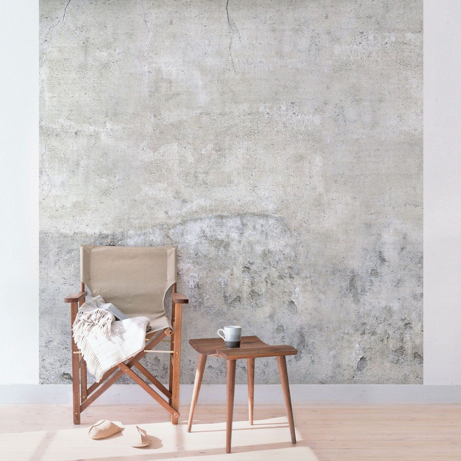 Tapete Betonoptik  Shabby Betonoptik Tapete  Vliestapete Quadrat von Schöne Wände Ohne Tapete Bild