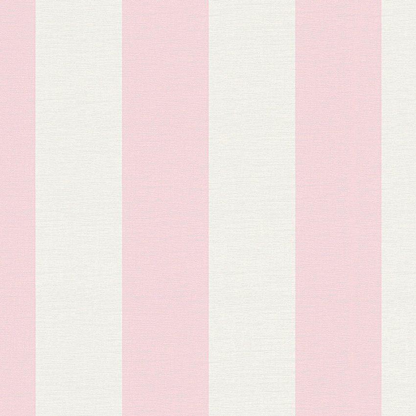 Tapete Liberté Streifen Pink Weiß  Dhal  Dasherzall von Tapete Rosa Weiß Gestreift Photo