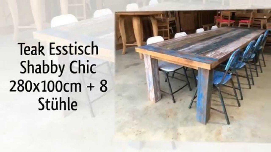 Teak Tisch Shabby Chic Vintage Youtube Von Esstisch Shabby