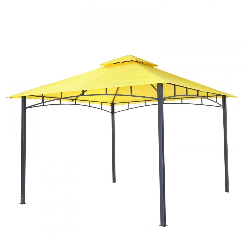 Tepro Garten Pavillon 3X3 M Wasserdicht Waya Gelb von Pavillon Dach 3X3M Wasserdicht Bild