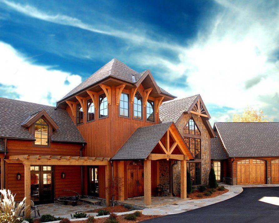 Timber Frame Homes Environmental Timber Frames Houses Post And Beam von Mill Creek Post And Beam Bild