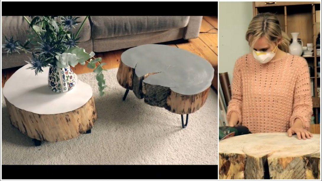 Tisch Aus Baumscheibe Selber Machen  Youtube von Tisch Baumscheibe Selber Bauen Bild