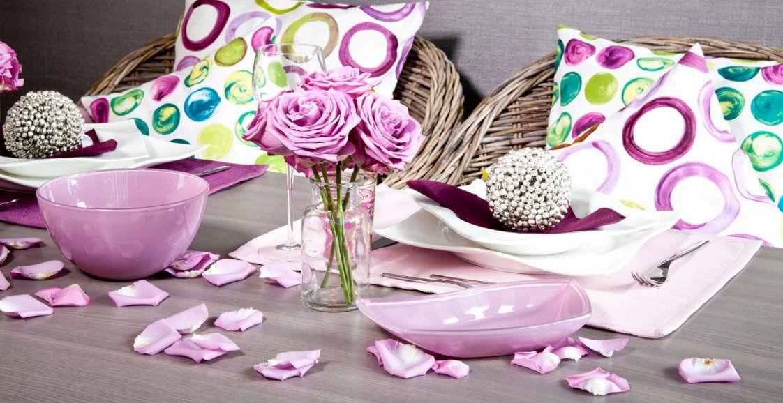 Tischdeko Hochzeit Flieder Bis 70%  Westwing von Tischdeko Hochzeit Lila Weiß Bild