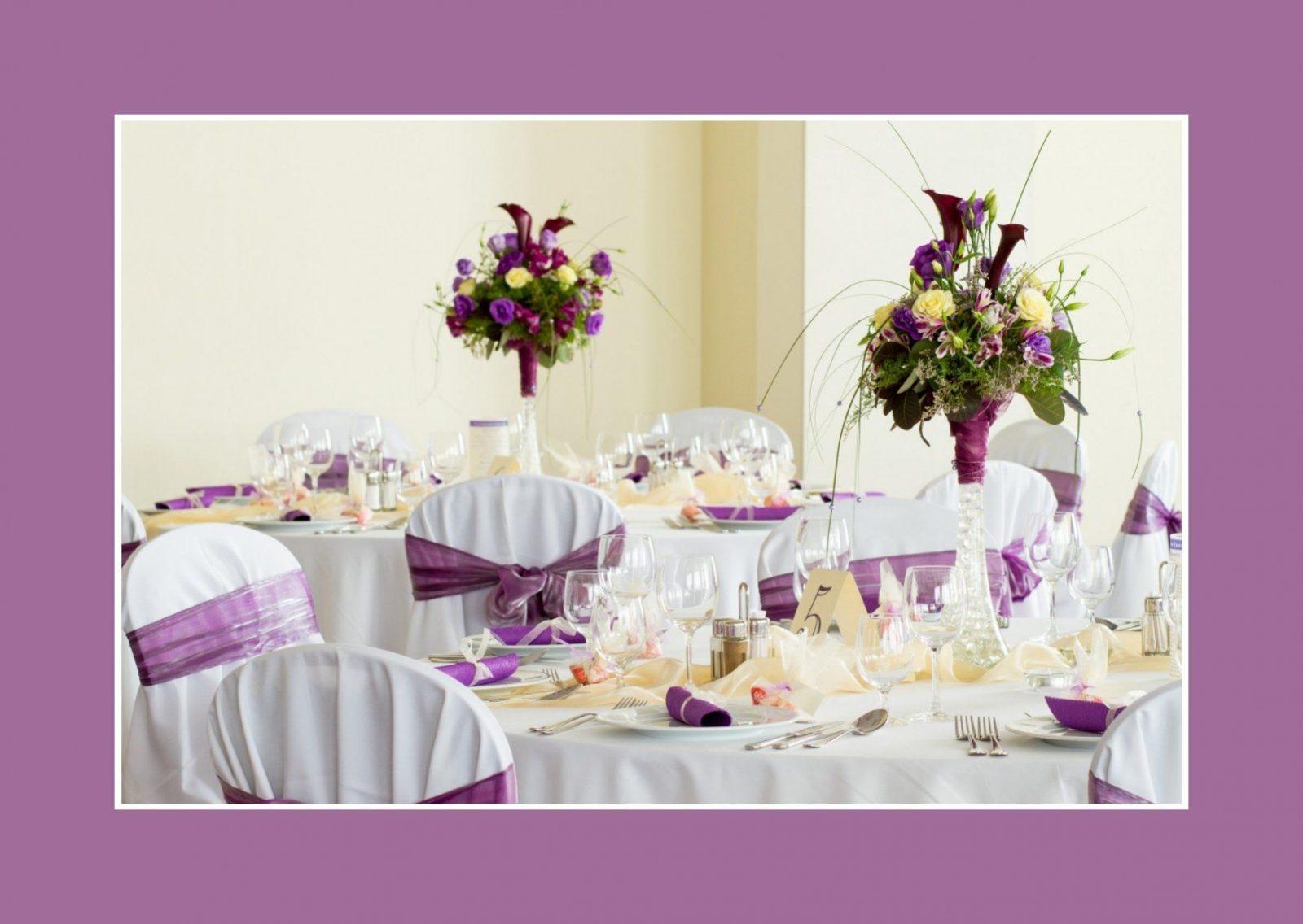 Tischdeko Lila Weiß Hochzeit  Hochzeit Kleid  Glückwünsche Zur von Tischdeko Hochzeit Flieder Weiß Photo