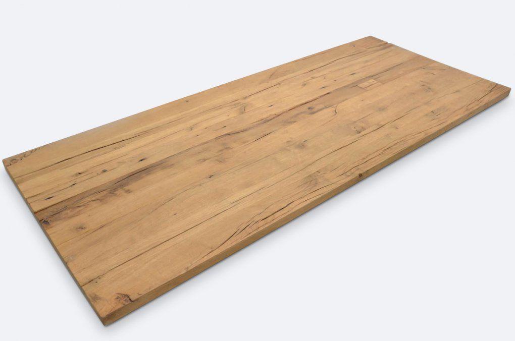 Tischfabrik24  Massivholz Tischplatte Altholz Eiche 4 Cm Nach Mas von Tischplatte Outdoor Nach Maß Bild