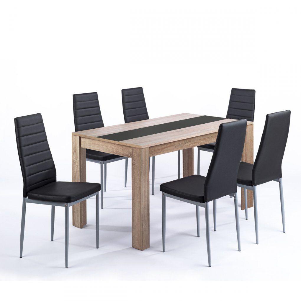 Tischgruppe Pegasus Esszimmer Küche Tisch Sonoma Eiche 6 Stühle In von Tisch Und Stühle Für Küche Bild