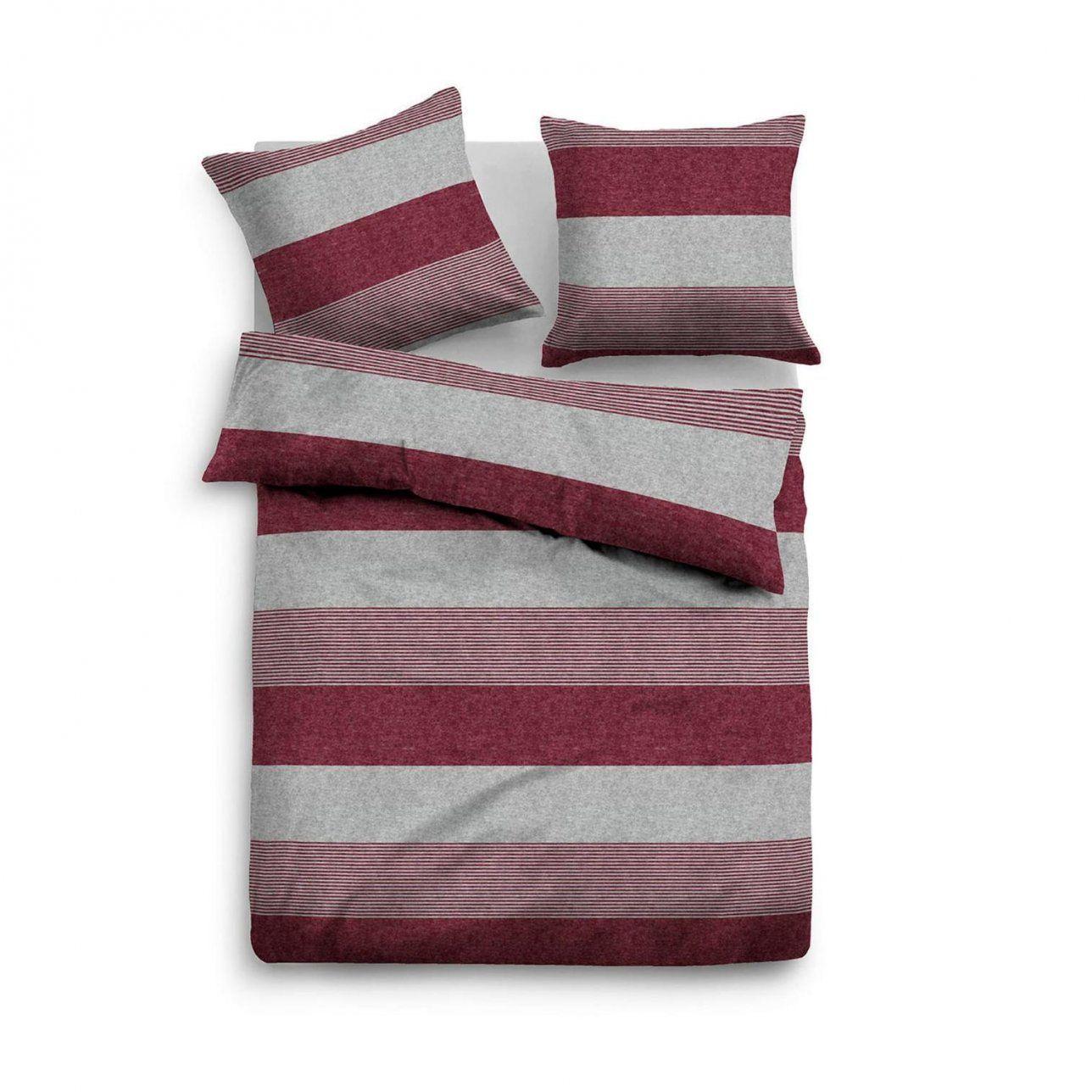 Tom Tailor Melange Flanell Bettwäscheset In Farbe Bordeauxgrau Um von Bettwäsche Tom Tailor Reduziert Bild