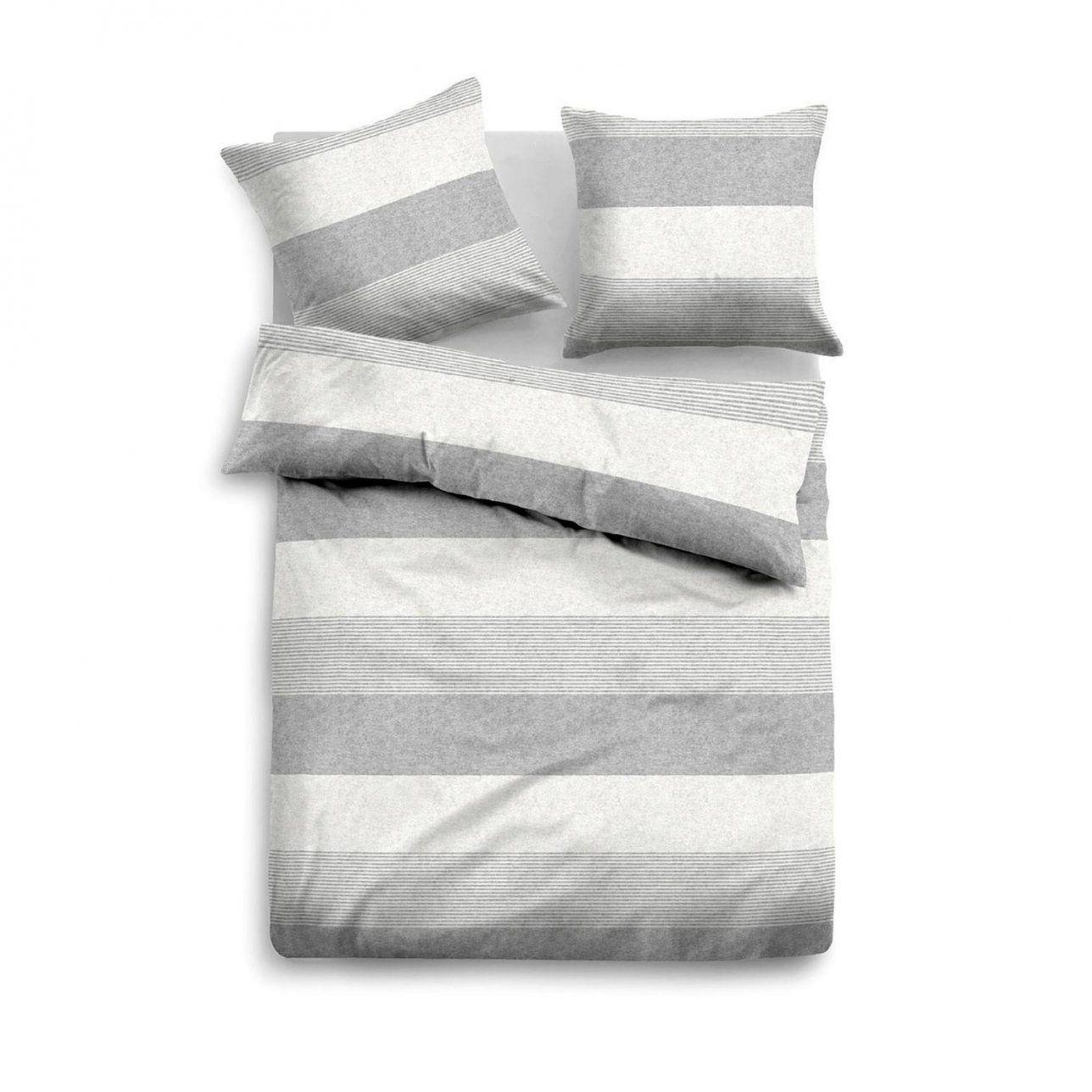 Tom Tailor Melange Flanell Bettwäscheset In Farbe Grauweiß Um 40 von Tom Tailor Bettwäsche Reduziert Photo