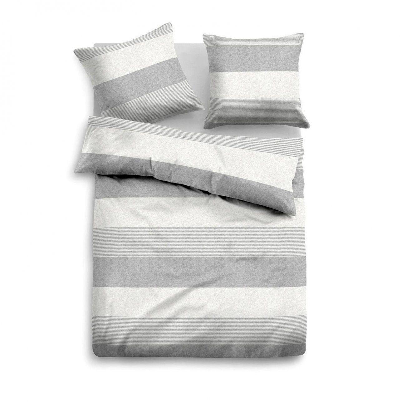 Tom Tailor Melange Flanell Bettwäscheset In Farbe Grauweiß Um 50 von Bettwäsche Tom Tailor Reduziert Bild