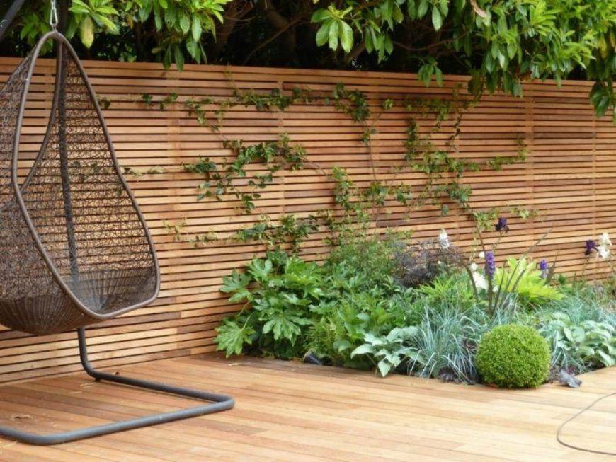 Trennwand Garten Selber Bauen von Garten Sichtschutz Selber Bauen Bild