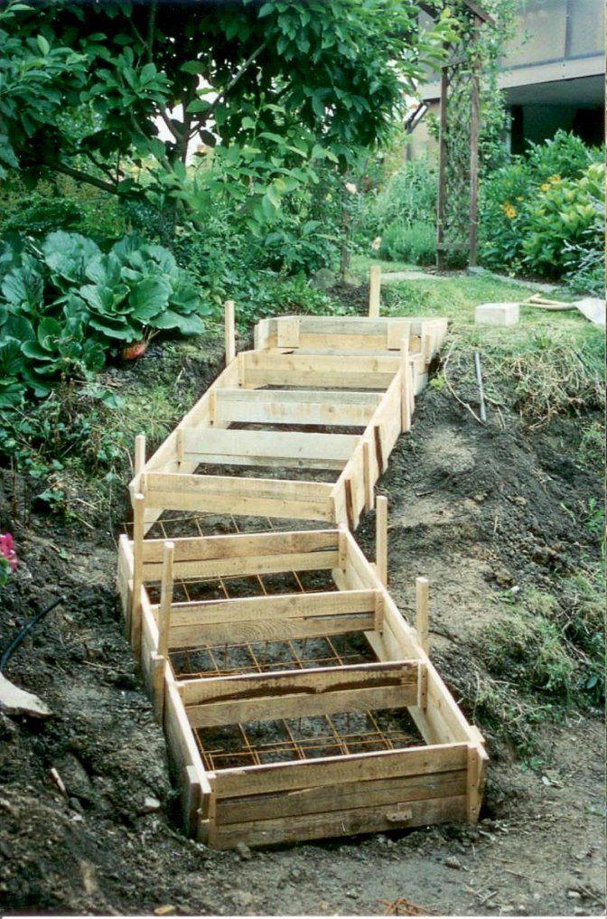 Treppe Bauen Garten Garten Terrasse Treppe Holz Treppen Und Wege von Treppe Im Garten Selbst Bauen Bild