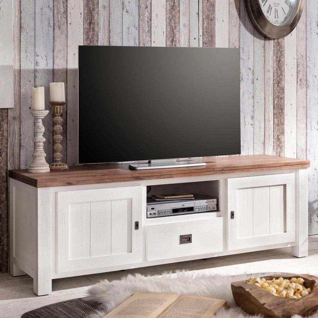 Tv Board Selber Bauen Mit Tv Board Lowboard Weiss Braun Landhaus von Tv Lowboard Selber Bauen Bild