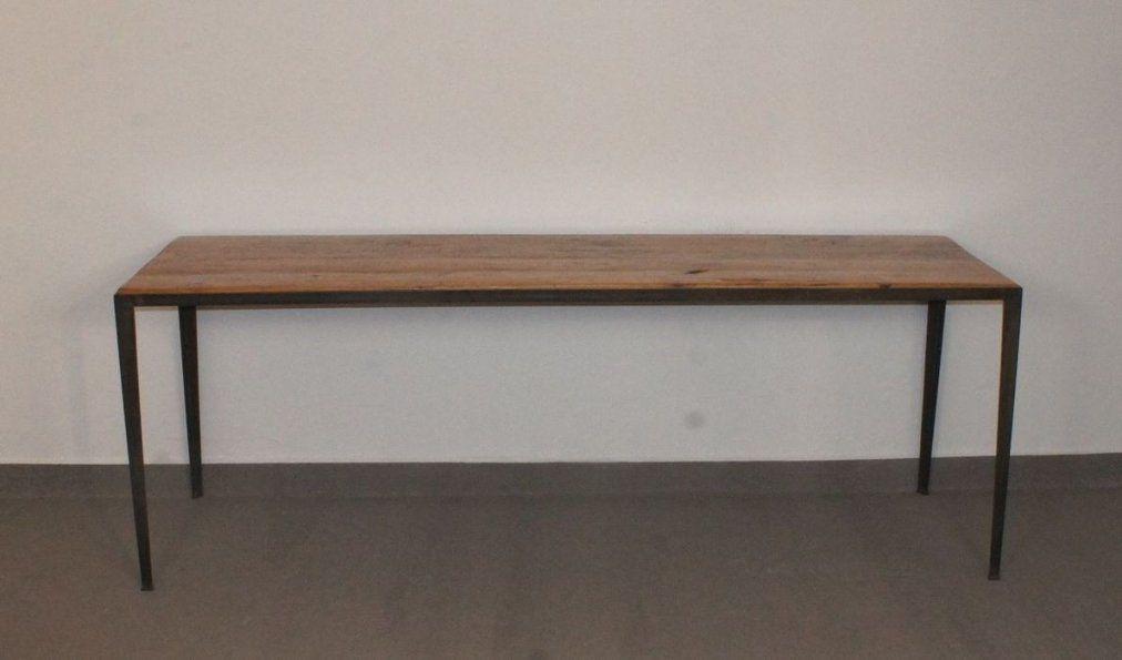 Unbelievable Tisch Metallgestell Teak Mit Gebraucht Kaufen von Tisch Mit Metallgestell Und Holzplatte Bild