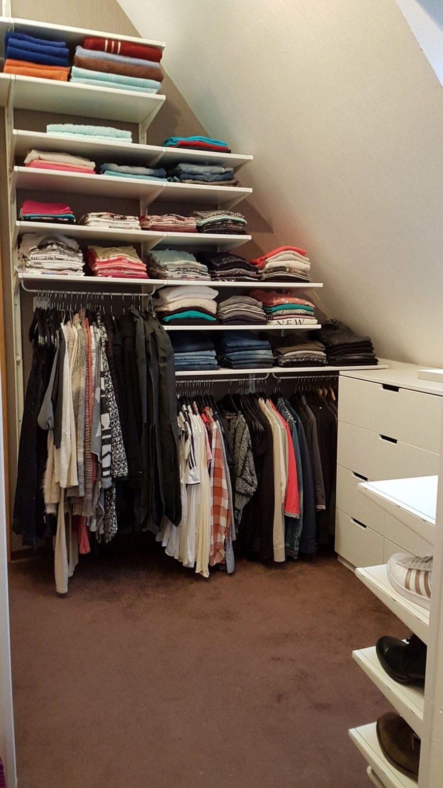 Unser Neues Ankleidezimmer Diy Ikea Selbermachen Regale Schrank von Begehbarer Kleiderschrank Dachschräge Selber Bauen Bild