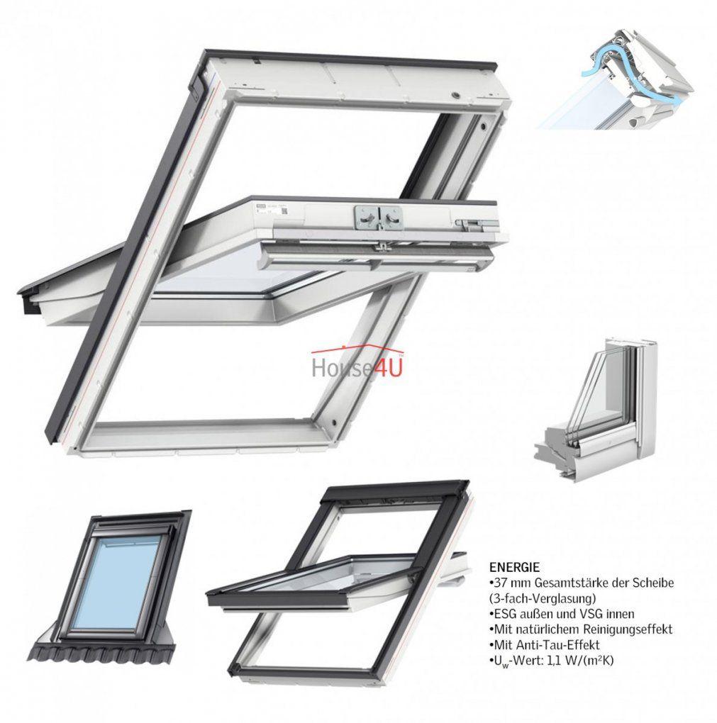 Velux Dachfenster Ggu 0068 Kunststoff Schwingfenster 3Fach 3Fach von Velux 3 Fach Verglasung Bild