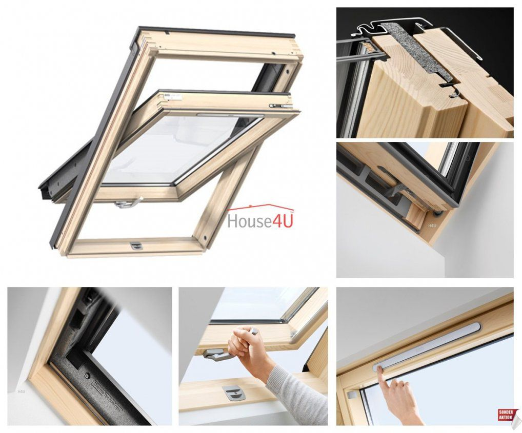 Velux Dachfenster Gll 1061 B 3Fachverglasung Uw= 11 von Velux 3 Fach Verglasung Photo