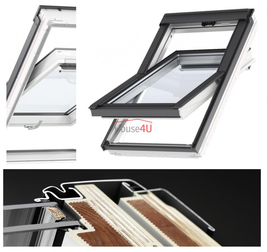 Velux Dachfenster Glu 0061 B 3Fachverglasung Uw= 11 von Velux 3 Fach Verglasung Photo