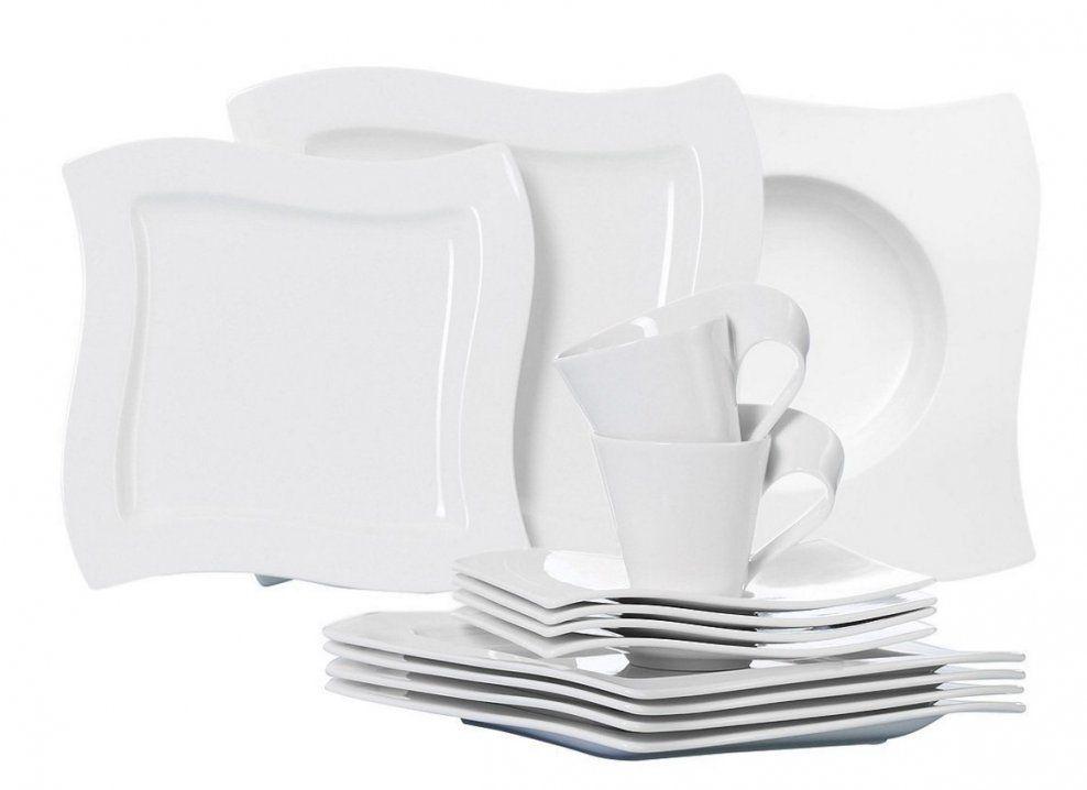 Villeroy & Boch New Wave Basic 30 Teilig Für 249€ Inkl Versand von Villeroy Und Boch Geschirr Basic White Bild