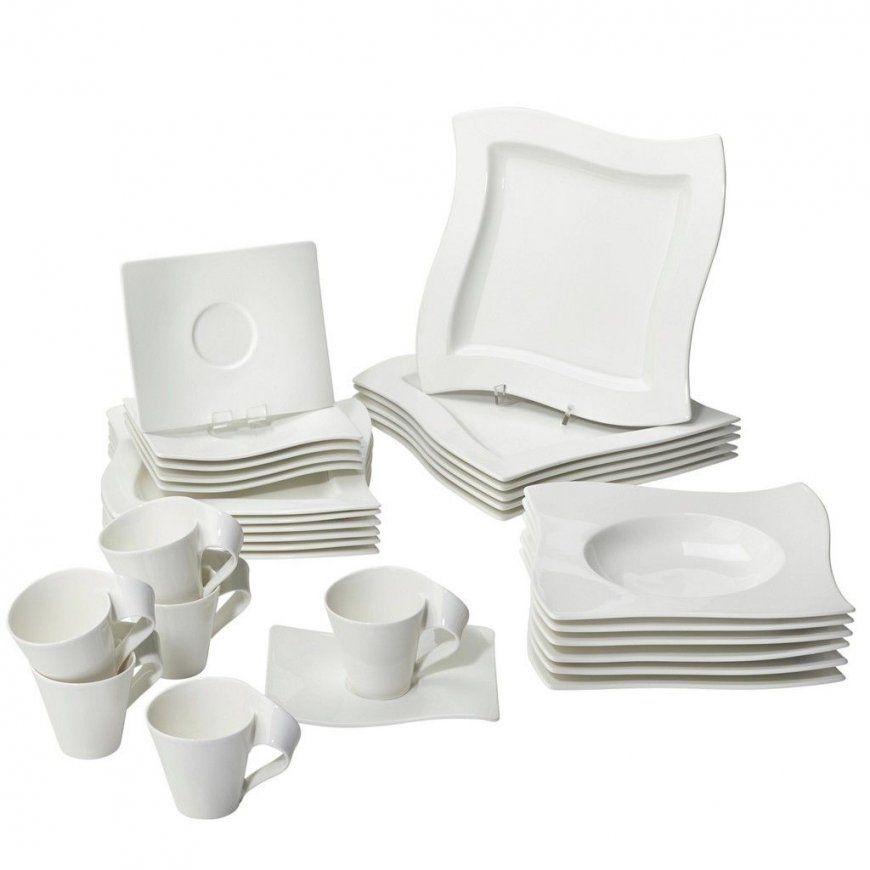Villeroy & Boch Porzellan Kombiservice 30Teilig Weiß Jetzt von Villeroy Und Boch Geschirr Basic White Bild