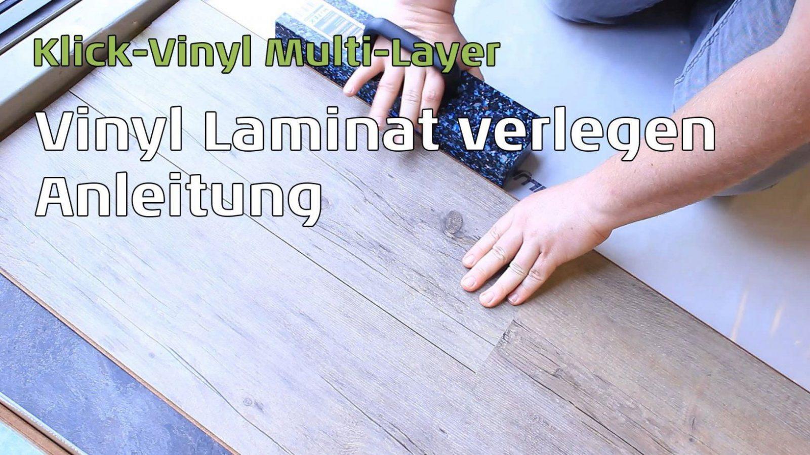 Vinyl Laminat (Mulitlayer) Verlegen  Anleitung  Youtube von Laminat Verlegen Anleitung Video Photo