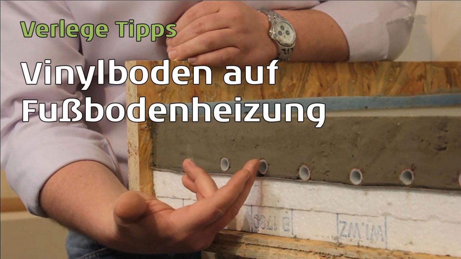 Vinylboden Schwimmend Auf Fußbodenheizung Verlegen  Youtube von Vinylboden Auf Fliesen Mit Fussbodenheizung Verlegen Bild
