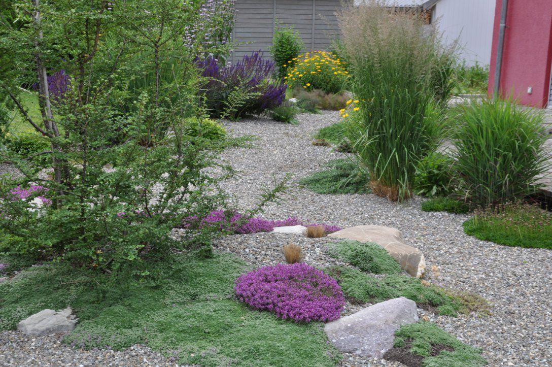 Vorgarten Gestalten Mit Kies Und Grasern von Vorgarten Gestalten Mit Kies Und Gräsern Photo