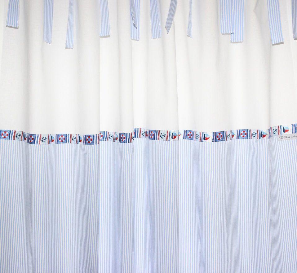 Vorhang Blau Weiß Gestreift Ehrfürchtig Gardinen Mit Ösen  Hausplan von Gardinen Blau Weiß Gestreift Photo