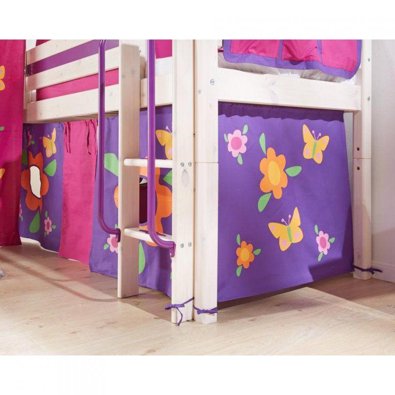 Vorhang Für Hochbett  Bettvorhang Trendy In Lila  Dänisches von Vorhang Hochbett Dänisches Bettenlager Photo
