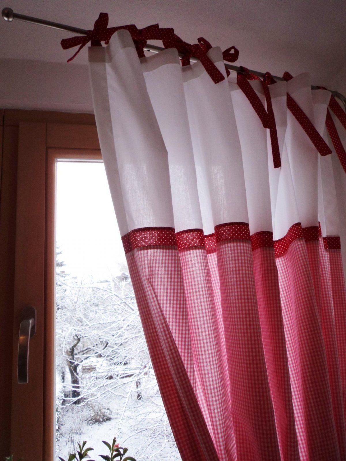 Vorhänge Rot Weiß  Jamgo von Gardinen Rot Weiß Kariert Bild
