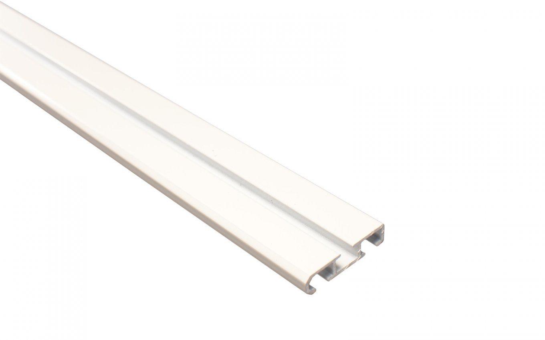 Vorhangschiene 2Läufig Weiß Aus Aluminium von Vorhangschiene Alu 2 Läufig Bild