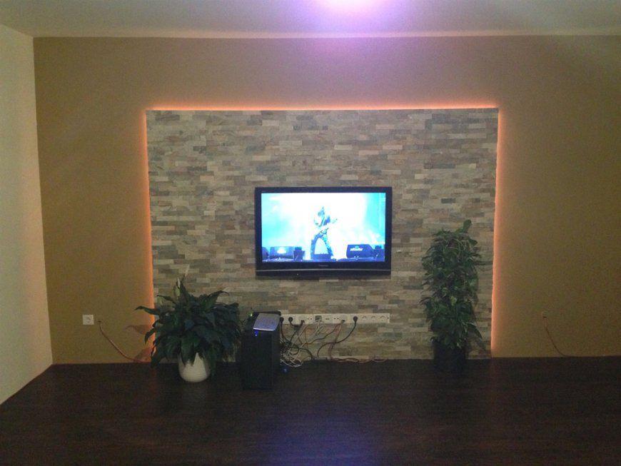 Wand Hinter Fernseher Gestalten  Die Schönsten Einrichtungsideen von Wand Hinter Fernseher Gestalten Bild
