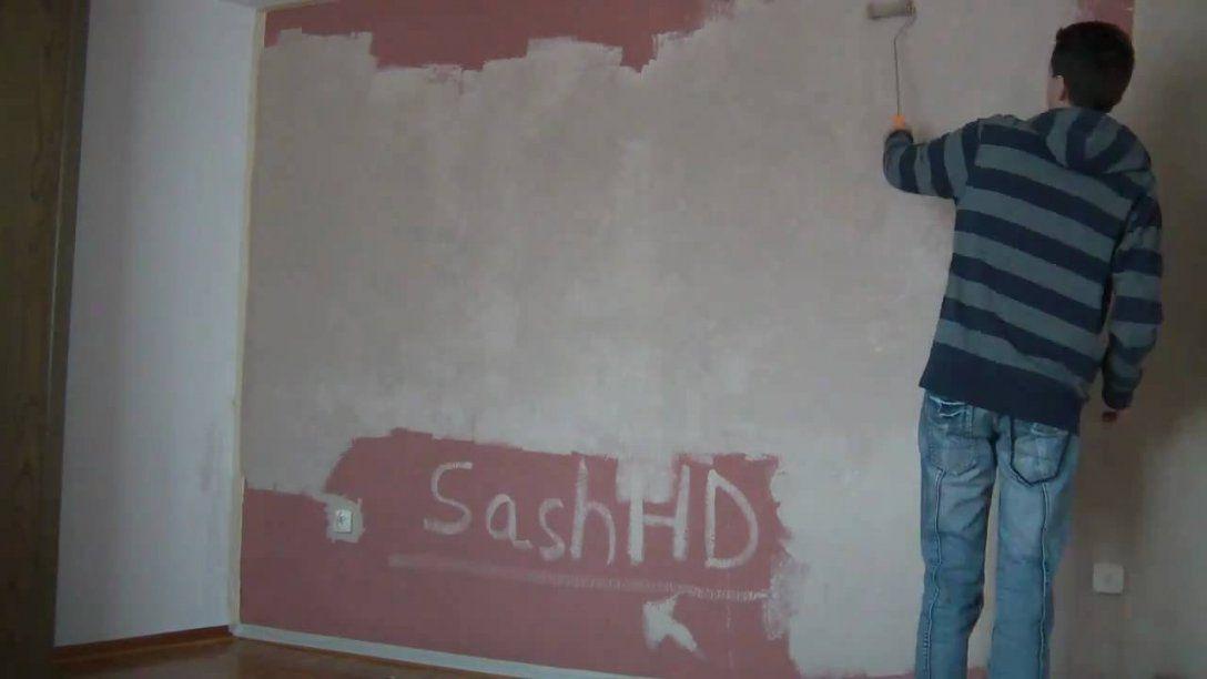 Wand Streichen In 141 Min   Hd 720P  Youtube von Wand Ohne Tapete Streichen Photo