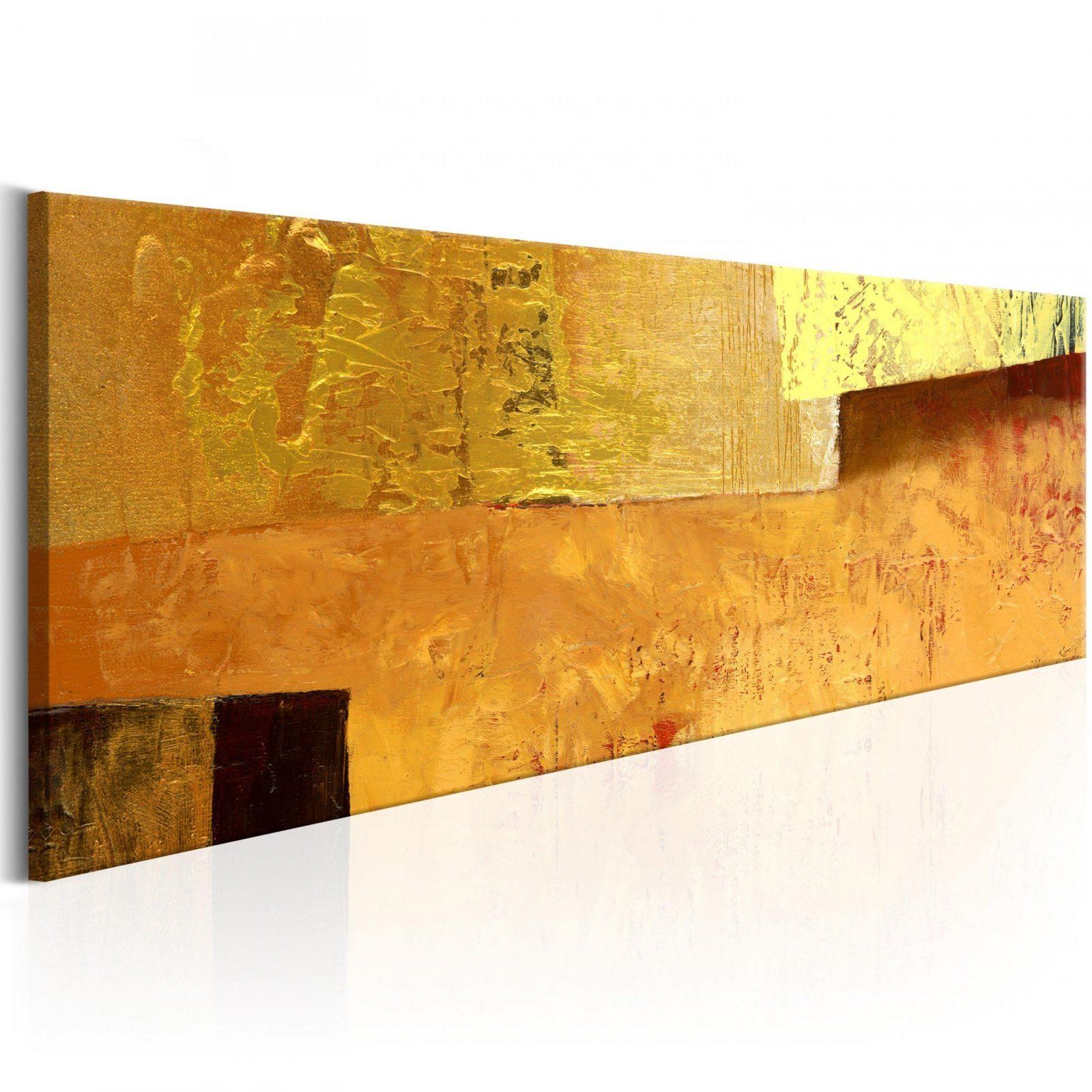Wandbilder Xxl Abstrakt Gold Leinwand Bilder Drucke Wohnzimmer Aa von Bilder Auf Leinwand Abstrakt Bild