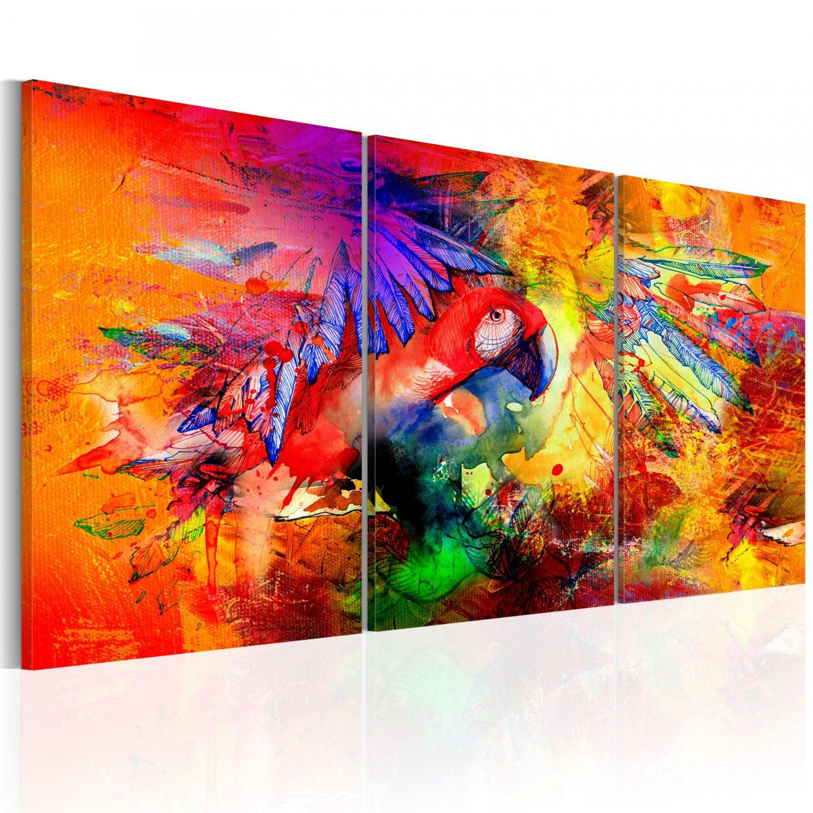 Wandbilder Xxl Wohnzimmer Leinwand Bilder Abstrakt Papagei Bunt Gb von Bilder Auf Leinwand Abstrakt Photo