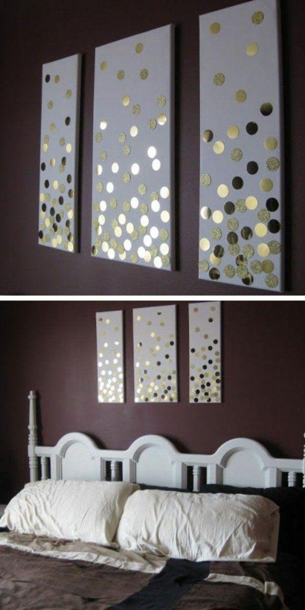Wanddeko Selber Machen 68 Tolle Ideen Für Ihr Zuhause  Wanddeko von Leinwand Selbst Gestalten Ideen Photo