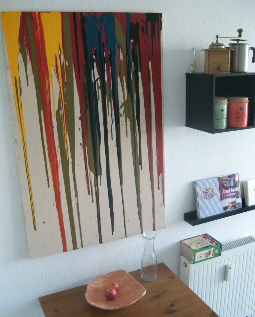 Wanddekoration Selbermachen  Kreatives Wandbild Selbst Gestalten von Kreative Bilder Selbst Gestalten Photo