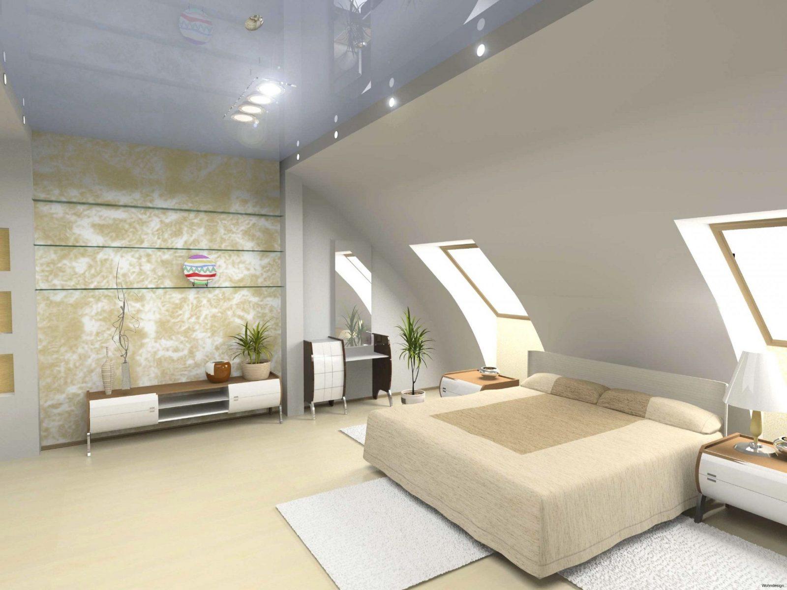 Wandgestaltung Schlafzimmer Schräge Wände Und Zimmer Mit Dachschräge von Bilder An Schrägen Wänden Bild