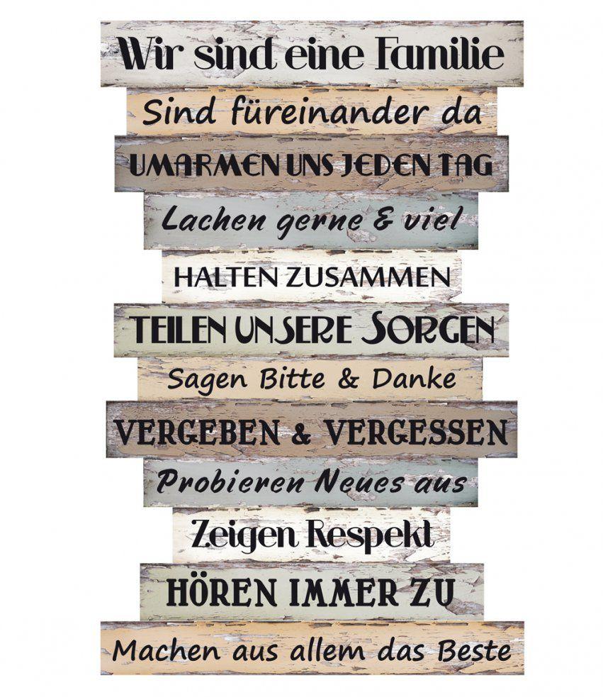 Wandschild Dekoschild Familie Regeln Schild Sprüche Vintage Shabby von Deko Schilder Mit Sprüchen Photo