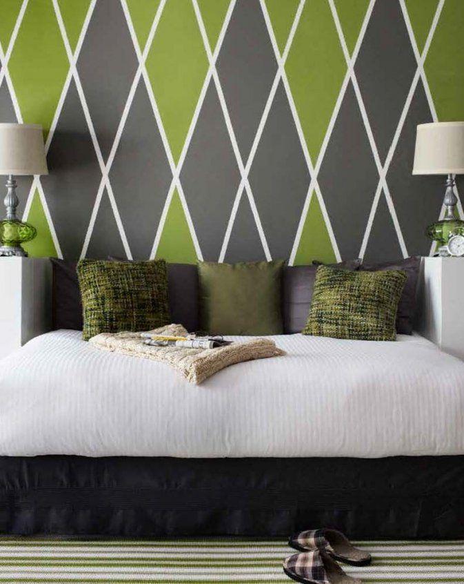 Wandstreichenideen U2013 Kreative Wandgestaltung Grün Und Grau Von Wand Grün  Streichen Ideen Photo