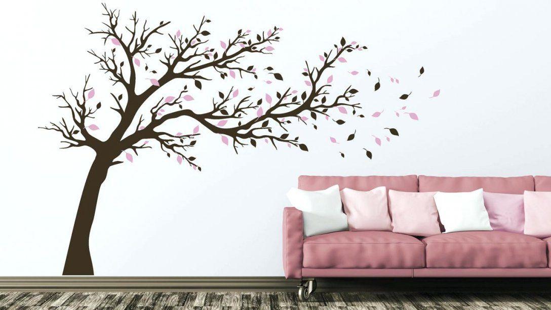 Wandtattoo Baum Groer Im Wind Als Mit Rosa Blttern With Fotorahmen von Wandtattoo Baum Im Wind Bild