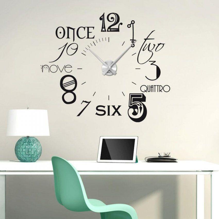 Wandtattoo Uhr Mit Uhrwerk Uhr Mit Bild Wohnzimmer Surfinser von Wandtattoo Uhr Mit Spruch Photo