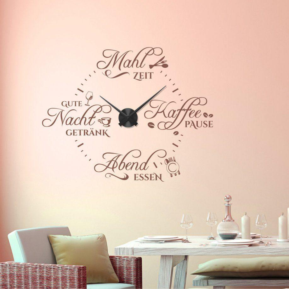 Wandtattoouhr Spruch Essen & Pause Wanduhr Essenszeiten F Küche von Wandtattoo Uhr Mit Spruch Photo