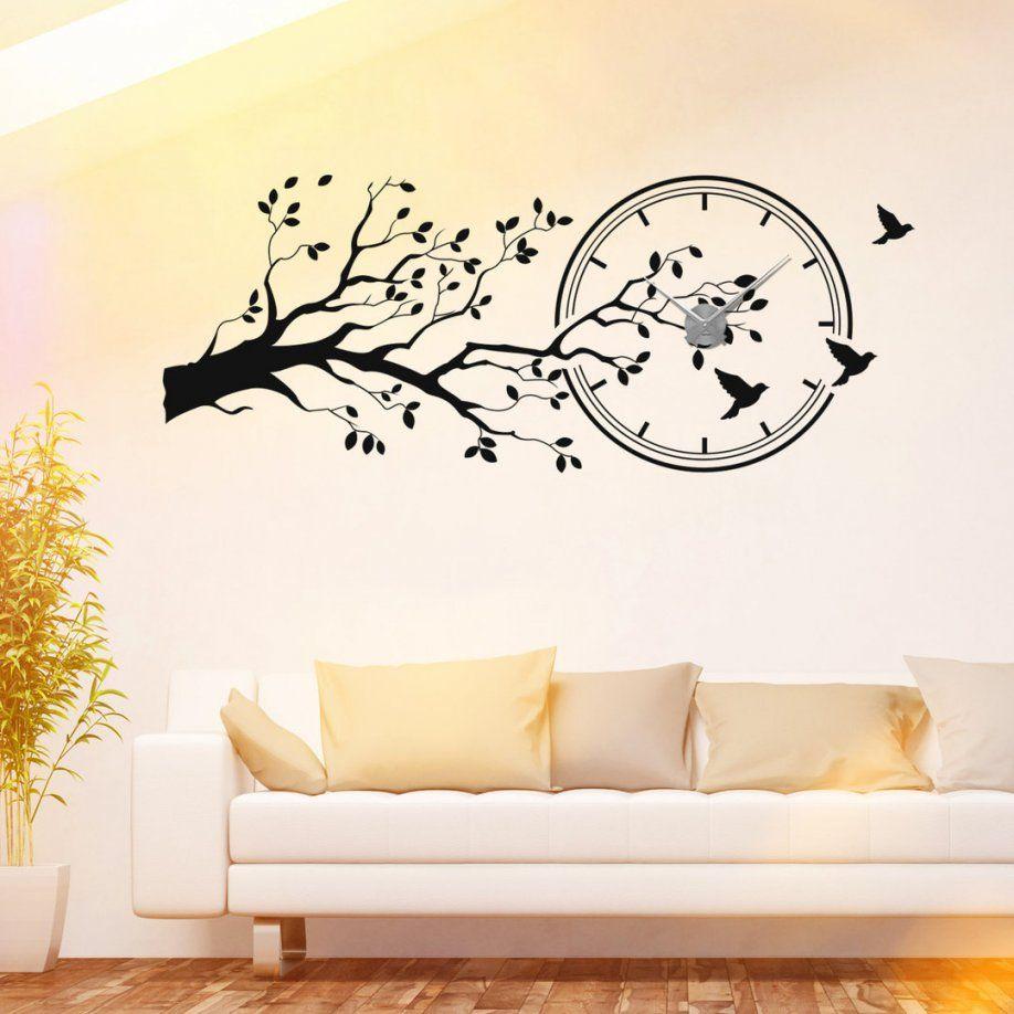 Wandtattoouhren  Schöne Wanduhren Zu Vielen Themen von Wandtattoo Uhr Mit Spruch Bild